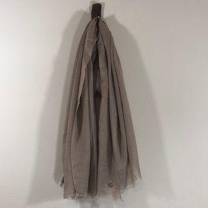 Beige Tan Long Wrap Scarf by Calvin Klein